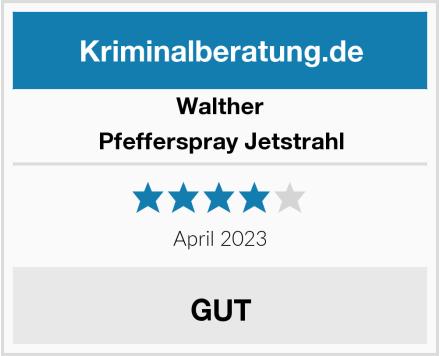 Walther Pfefferspray Jetstrahl Test