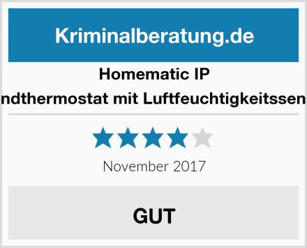 Homematic IP Wandthermostat mit Luftfeuchtigkeitssensor Test