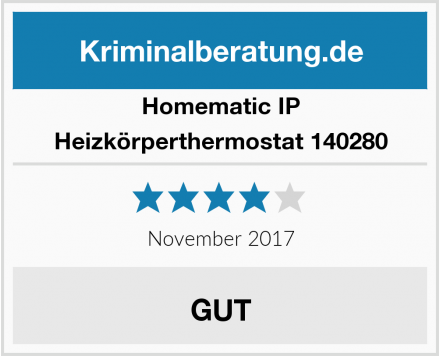 Homematic IP Heizkörperthermostat 140280 Test