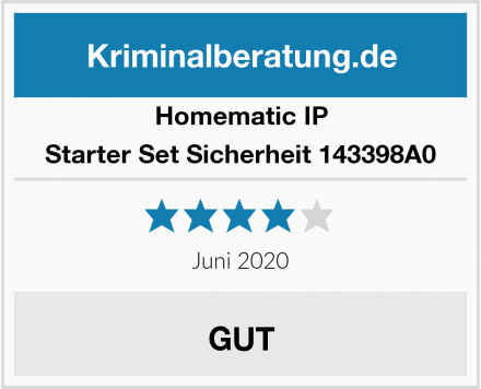 Homematic IP Starter Set Sicherheit 143398A0 Test