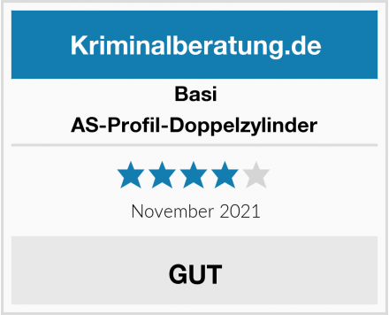 Basi AS-Profil-Doppelzylinder Test