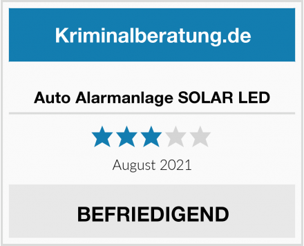 No Name Auto Alarmanlage SOLAR LED Test