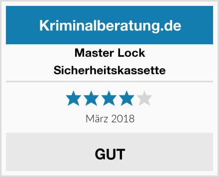 Master Lock Sicherheitskassette Test