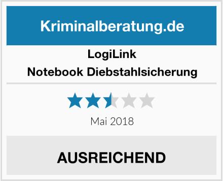 LogiLink Notebook Diebstahlsicherung Test