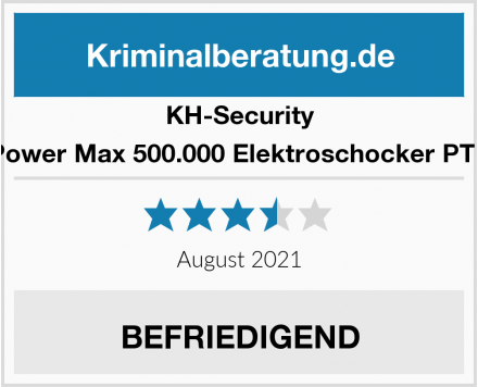 KH-Security Power Max 500.000 Elektroschocker PTB Test
