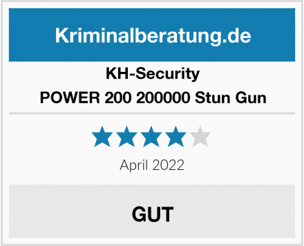 KH-Security POWER 200 200000 Stun Gun  Test