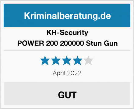 KH-Security POWER 200 200000 Stun Gun  Test