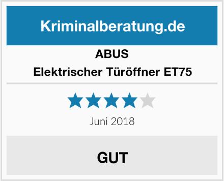 ABUS Elektrischer Türöffner ET75 Test