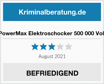 PowerMax Elektroschocker 500 000 Volt Test