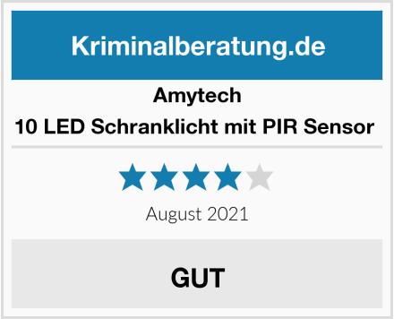 Amytech 10 LED Schranklicht mit PIR Sensor  Test