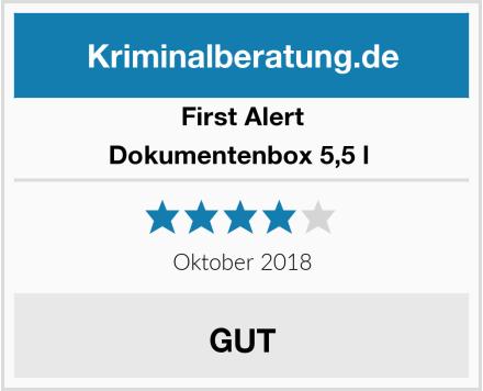 First Alert Dokumentenbox 5,5 l  Test