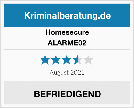 Homesecure ALARME02 Test