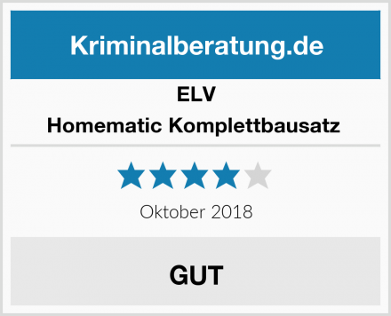 ELV Homematic Komplettbausatz  Test