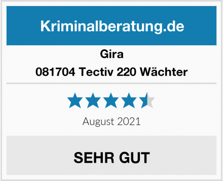 Gira 081704 Tectiv 220 Wächter Test