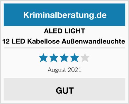 ALED LIGHT 12 LED Kabellose Außenwandleuchte  Test