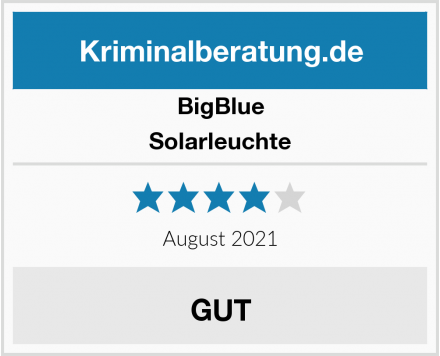 BigBlue Solarleuchte Test
