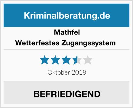 Mathfel Wetterfestes Zugangssystem  Test
