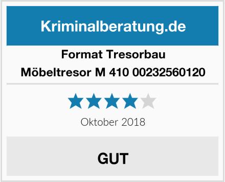 Format Tresorbau Möbeltresor M 410 00232560120 Test