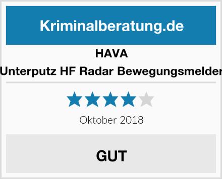 HAVA Unterputz HF Radar Bewegungsmelder Test
