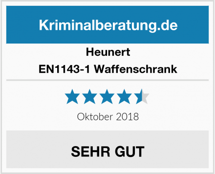 Heunert EN1143-1 Waffenschrank Test