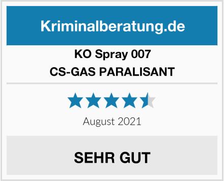 KO Spray 007 CS-GAS PARALISANT Test
