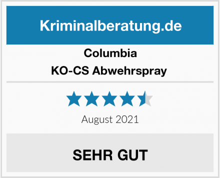 Columbia KO-CS Abwehrspray  Test