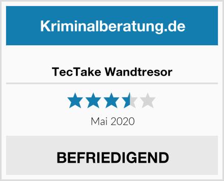 TecTake Wandtresor Test
