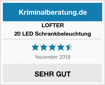 LOFTER 20 LED Schrankbeleuchtung Test