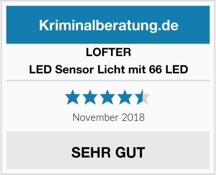 LOFTER LED Sensor Licht mit 66 LED Test