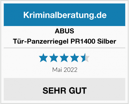 ABUS Tür-Panzerriegel PR1400 Silber Test