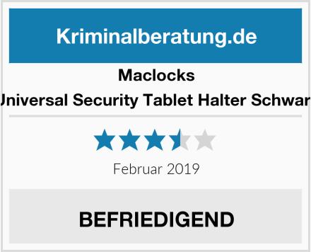 Maclocks Universal Security Tablet Halter Schwarz Test