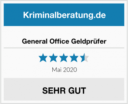 General Office Geldprüfer Test