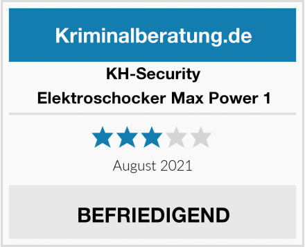 KH-Security Elektroschocker Max Power 1 Test