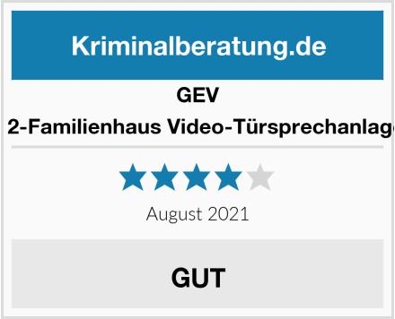 GEV 88351 2-Familienhaus Video-Türsprechanlage CVS Test