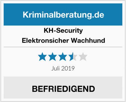 KH-Security Elektronsicher Wachhund Test