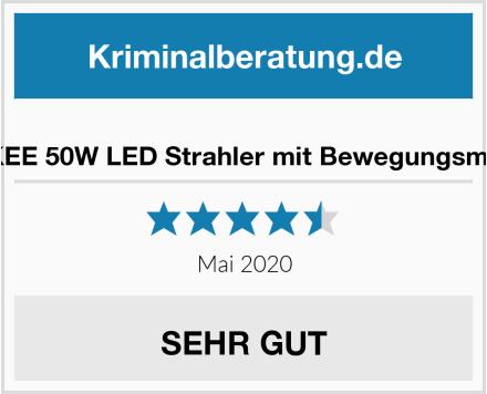 MEIKEE 50W LED Strahler mit Bewegungsmelder Test