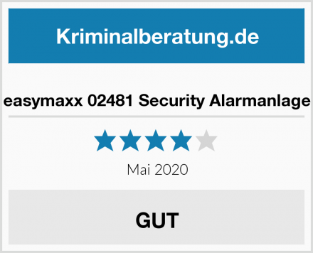 easymaxx 02481 Security Alarmanlage Test