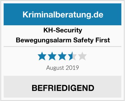 KH-Security Bewegungsalarm Safety First Test