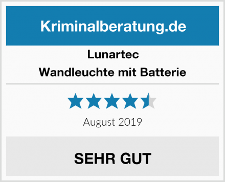 Lunartec Wandleuchte mit Batterie Test