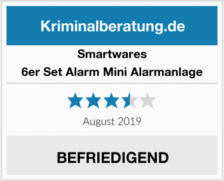 Smartwares 6er Set Alarm Mini Alarmanlage Test