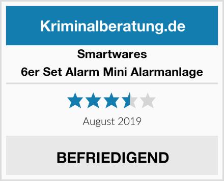 Smartwares 6er Set Alarm Mini Alarmanlage Test