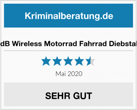 No Name Mengshen 113dB Wireless Motorrad Fahrrad Diebstahl Alarmanlage Test