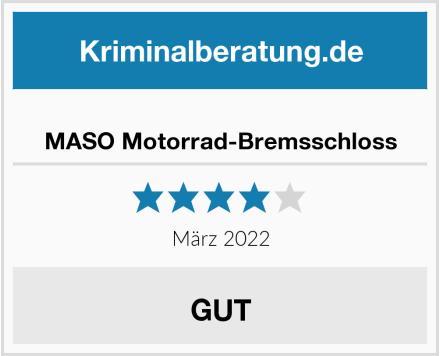 MASO Motorrad-Bremsschloss Test