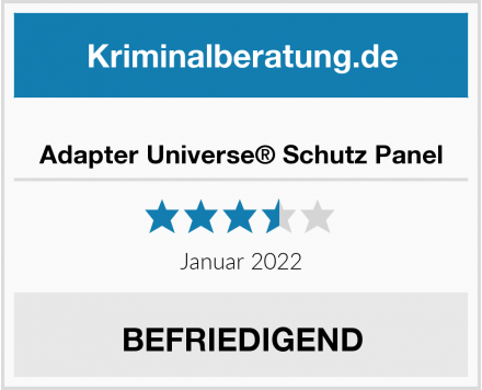 Adapter Universe® Schutz Panel Test