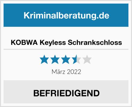 KOBWA Keyless Schrankschloss Test
