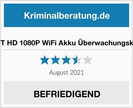 MHDYT HD 1080P WiFi Akku Überwachungskamera Test