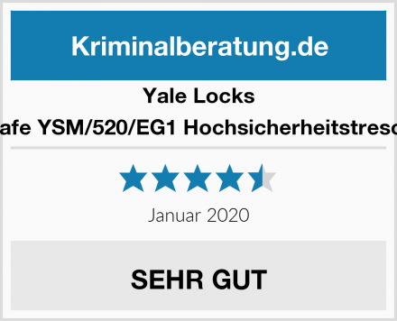 Yale Locks Safe YSM/520/EG1 Hochsicherheitstresor Test