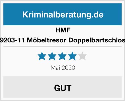 HMF 49203-11 Möbeltresor Doppelbartschloss Test
