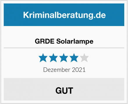 GRDE Solarlampe Test