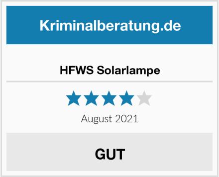 HFWS Solarlampe Test